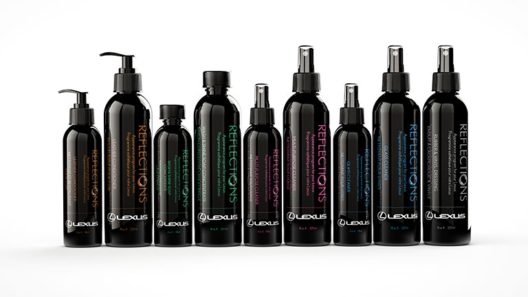 Lineup of specialized Lexus detail kit products