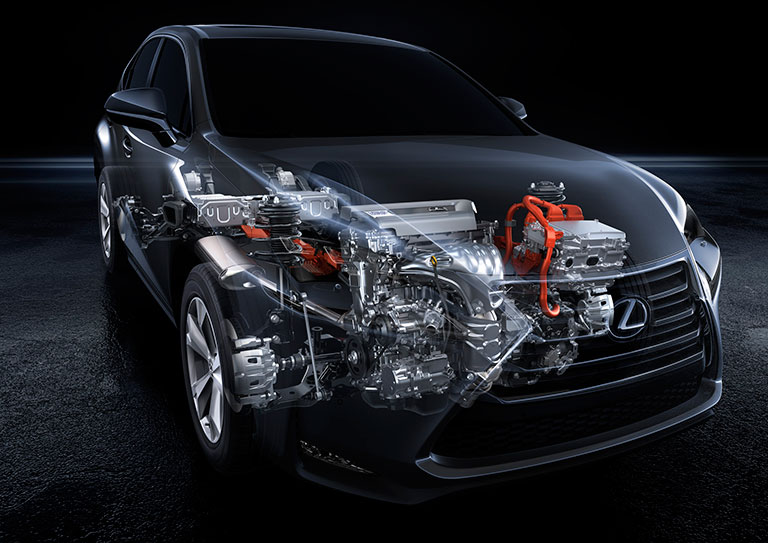 X-ray view of Lexus air conditioning system