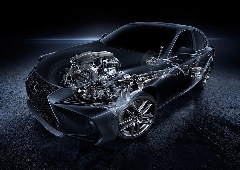 X-ray view of Lexus electrical system