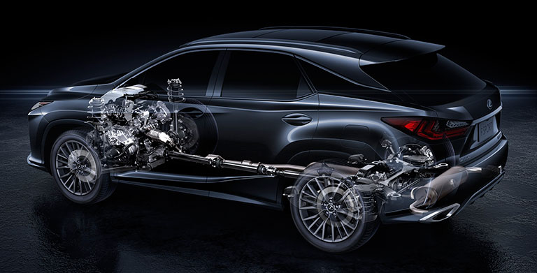 X-ray view of Lexus fuel system